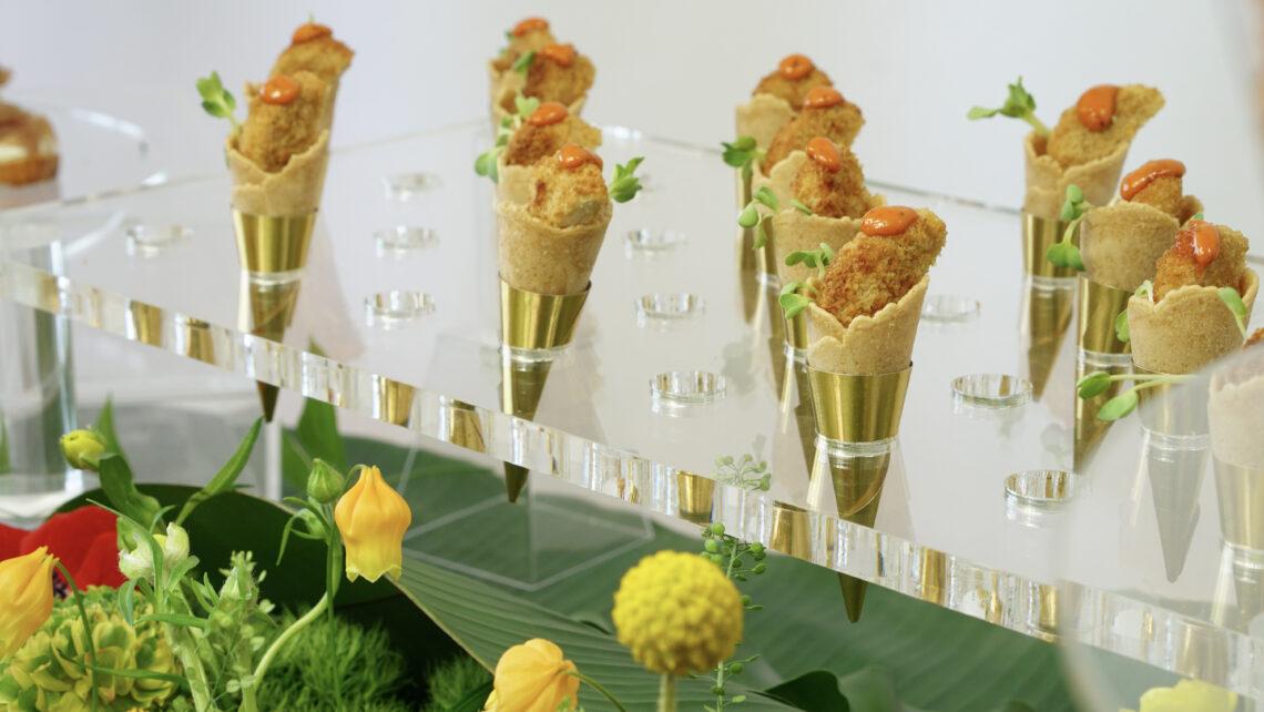 Chicken waffle cones